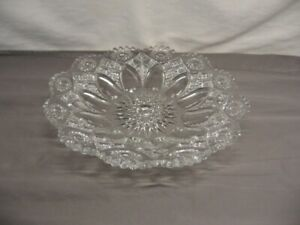 "Beautiful Northwood ""Nearcut"" Clear Shallow Bowl 11 1/2"" Diameter VGC"