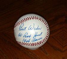 Hank Aaron signed MLB Baseball autograph Atlanta Braves C.O.A.