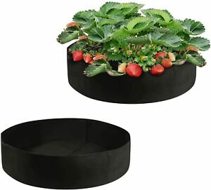 2 Pcs Fabric Plant Grow Bags Home Garden Flower Vegetable Elevated Box Bag