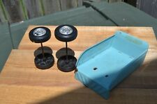 VINTAGE BUDDY L COME BACK TRUCK PARTS BED AND FRONT AND BACK WHEELS