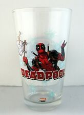Brand New 16 oz Marvel's DEADPOOL Pint Glass Marvel Comics Double Sided MCU