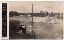 RP Postcard Green Houses Wrecked by Flood Waters in Austin, Minnesota~107164
