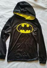 NEW Boys XL Batman Black Yellow Pullover Hoodie w/ Pocket