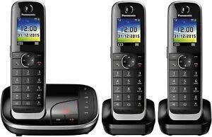 Panasonic KX-TGJ323GB Festnetztelefon Schnurlos 3 Mobilteile Anrufbeantworter