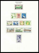 COOK ISLANDS 1960-63 ISSUES ON PAGE (LHM/MNH) *CLEAN & FRESH*