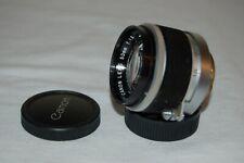 Canon 1.8 / 50 mm Rangefinder Lens. 39mm Screw Mount (LTM) Caps. 288712. UK Sale