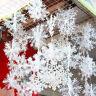 240x Schneeflocken Snowflakes Christbaumschmuck Aufhängen Weihnachtsbaumdeko Set