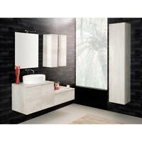 Composizione sospesa Unika140T mobile arredo bagno lavabo specchio e miscelatore