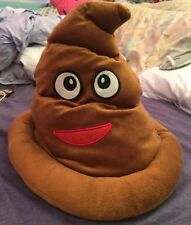 Soft Fabric Emoji Poop Hat - Stylish - Funny - Costume