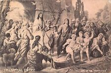 RIUMPHAL ENTRY~PALM SUNDAY~POSTCARD 1910