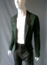 Emily Sharp Hecho a Mano Jersey formal cardigan-Verde y Negro. S, M o L