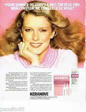 PUBLICITE ADVERTISING 116  1978  les  soins de cheveux Keranove shampooing