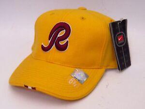 "WASHINGTON Skins Fitted ""R"" NFL Cap/Hat - Gold/Burgundy NIKE"