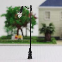 LQS29 5PCS Model Train OO/HO scale Lamp Posts Yard Street Light Lamps Delicate