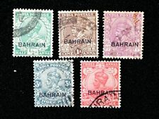Bahrain 1934-37 KGV - Fine used not hinged