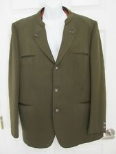 "MUNCHNER TRACHTENMODE 100% New Wool Jacket Over Coat w/Vest Brown Chest 46"" GUC"