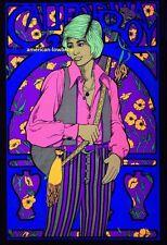 California Boy Psychedelic Art Blacklight Poster Woodstock Hippie 70s Stoner