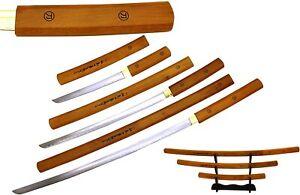 Snake Eye Tactical Shirasaya Wooden Samurai Sword Set Katana