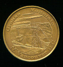 EMBLEM OF B.C., CANADA (The Dogwood) BRONZE MEDAL (2M744) CHAIRLIFT GROUSE MTN.