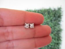 .038 Carat Diamond White Gold Earrings 18k PRE-ORDER sep