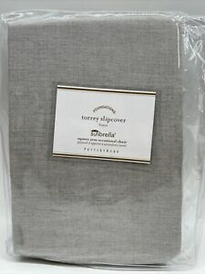 Pottery Barn Sunbrella Torrey Square Arm Occasional Chair Slipcover, Free Ship
