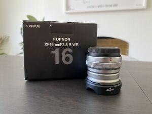 FUJIFILM FUJINON XF16MM F2.8 R WR LENS ~ SILVER