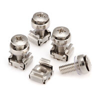Stainless Steel M5/M6 Cage Nuts & Screws for Server Shelves Cabinets -10/30pcs