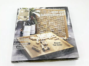 "Wine Enthusiast 16"" Wine Cork Bulletin Board Kit: Recycle Your Corks!"