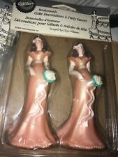 Vintage Wilton Bridesmaid Cake Toppers Wedding Pearl Blush New