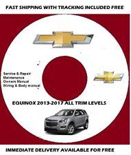 Chevrolet Equinox 2013 2014 2015 2016 2017 Service Repair Manual on CD * BONUS
