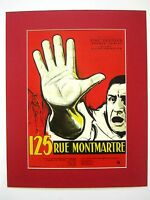 alter Kino Film Druck hinter Passepartouts Tatort Paris 1959 50x40 cm 500