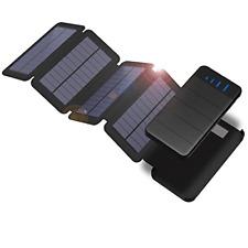 X-DRAGON Solar Charger 10000mah Detachable Solar Panel Power Bank Waterproof LED