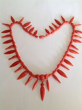 Exceptional Museum Quality Antique Victorian Natural Coral Necklace - Circa 1875
