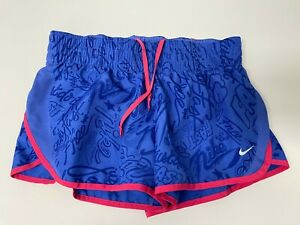 Nike Dri-Fit Womans Size M Athletic Running Workout Shorts Lined Swoosh Logo