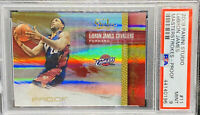 2009-10 LEBRON JAMES PANINI STUDIO MASTERSTROKES PROOF CARD #76/199 PSA 9 POP 1