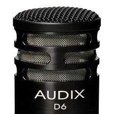 Audix D6 Kick/Bass Drum Microphone w/ Clip and Pouch NEW Dealer Fast Ship