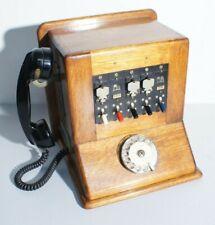 Telephone Centrale téléphonique Réseau en Bois Vintage 1964