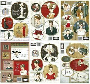 42 Debbi Moore Diecut Art Deco Toppers Audrey Hepburn and More 6 Sheets New
