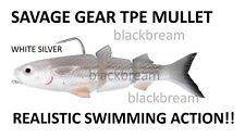 SAVAGE GEAR 3D TPE MULLET LURE 13cm28g PIKE ZANDER PERCH BASS PREDATOR SPIN BAIT