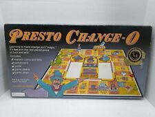 1992 Presto Change-O Board Game Learning Money Game (Pre-Owned) Not Complete.