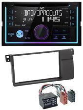 JVC Bluetooth DAB CD MP3 2DIN USB Autoradio für BMW 3er E46 Rundpin großem Navi