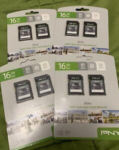 PNY 16gb Elite SDHD Flash Card x4