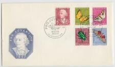 Butterflies, Mathematics (Euler): Switzerland 1957 PJ FDC