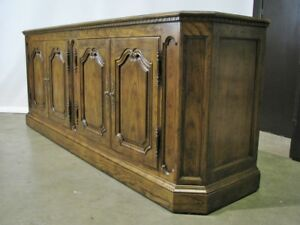 Vintage Baker Furniture French Country Oak Buffet; Exceptional Condition