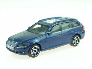 BMW e91 3er touring blue diecast model car 30220 Bburago 1/43