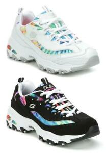 SKECHERS Women's D'Lites Pretty, Bright Sneakers in Medium and Wide Widths