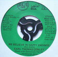 "EARL THOMAS CONLEY - We Believe In Happy Endings - Ex 7"" Single RCA 8632-7-RAA"