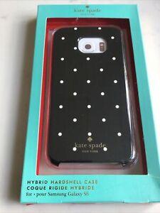Genuine KATE SPADE Hybrid Hard shell Case Cover - Samsung Galaxy S6  - Black