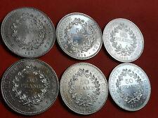 Lot 6 pièces argent Hercule année 1974 / 75 / 76 / 77 / 78 / 79 Lot n° 4
