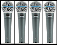 (4) New Shure BETA 58A Vocal Mics Authorised Dealer Make Offer Buy It Now!